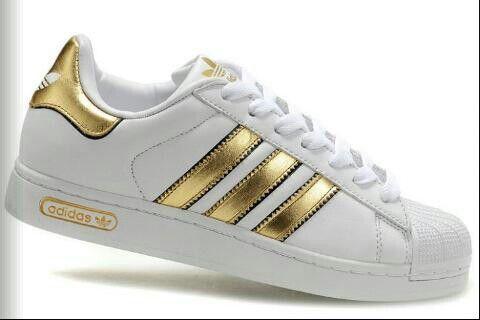 adidas superstar blanche et dore