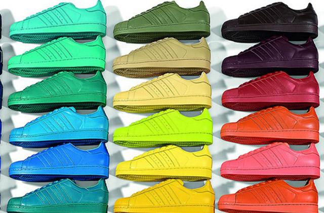 adidas superstar pharrell jaune fluo