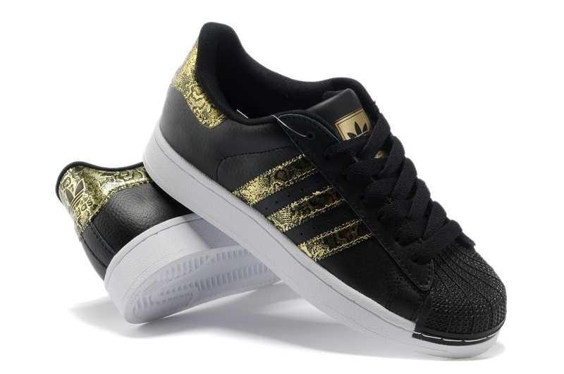 basket adidas femme noir or
