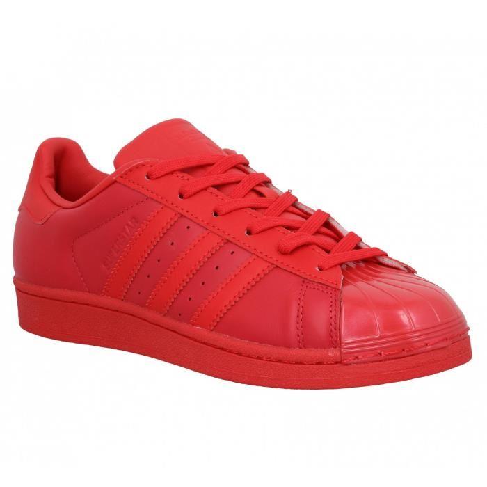 basket adidas rouge et blanc