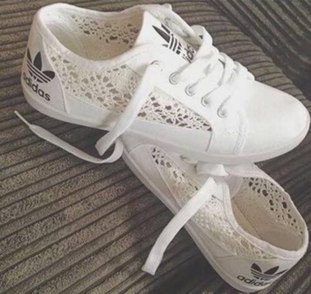 adidas chaussure dentelle