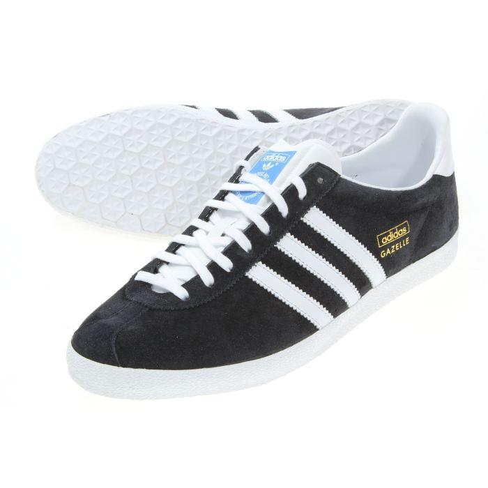 adidas Gazelle Og Cuir Blanc Chaussures Baskets homme